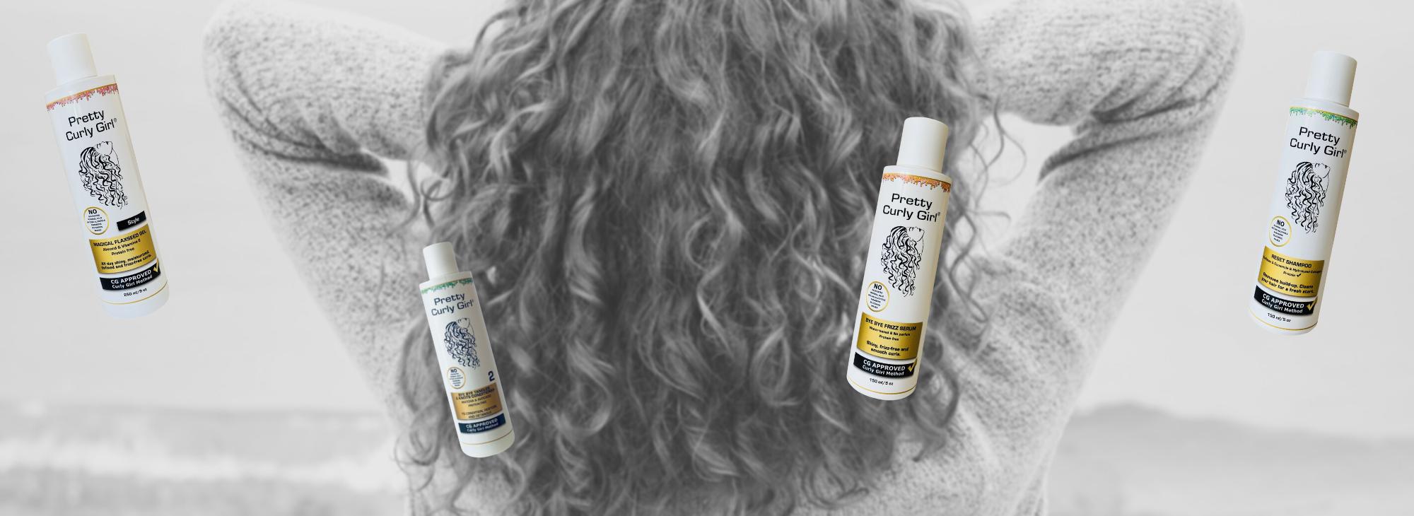 3 žingsnių stebuklingų plaukų rutina su Pretty Curly Girl produktais